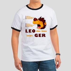 LEO The Lion Says GER Ringer T