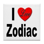 I Love Zodiac Tile Coaster