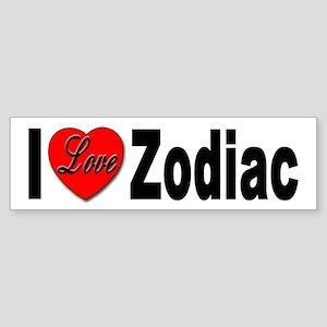 I Love Zodiac Bumper Sticker