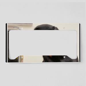 Rottweiler Dog License Plate Holder