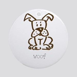 Woof, The Dog Ornament (Round)