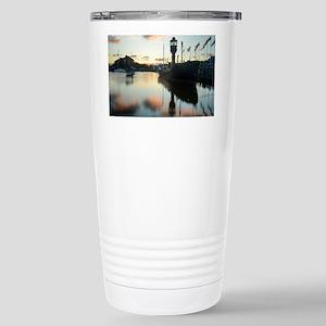 Hull Marina at Sunset Stainless Steel Travel Mug