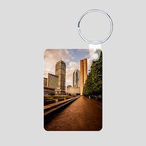 Boston Golden Hour Aluminum Photo Keychain