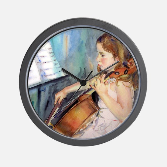 Cellist Girl Wall Clock