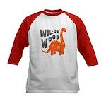 Dinosaur (red/black) Tee Baseball Jersey