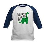 Dinosaur (navy) Tee Baseball Jersey