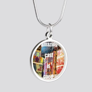 An amazing cast is good comp Silver Round Necklace