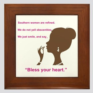 Bless Your Heart Framed Tile