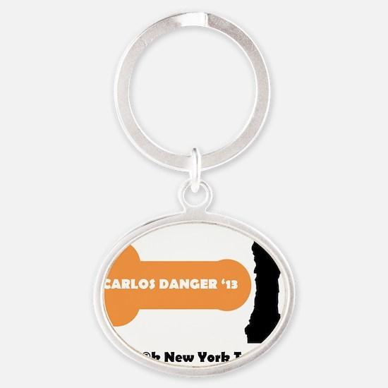 Carlos Danger Oval Keychain