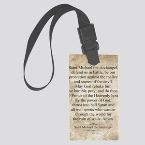 Saint Michael the Archangel Large Luggage Tag