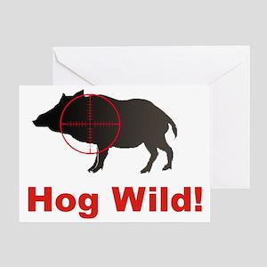 Hog Wild Greeting Card
