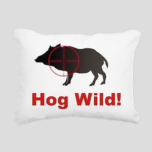 Hog Wild Rectangular Canvas Pillow