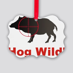 Hog Wild Picture Ornament
