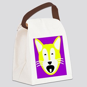 Jacob Cat for Suede Pillow Canvas Lunch Bag