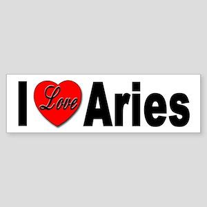 I Love Aries Bumper Sticker