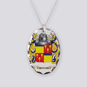 Butler Coat of Arms Necklace Oval Charm