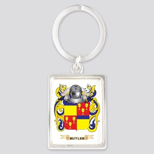 Butler Coat of Arms Portrait Keychain