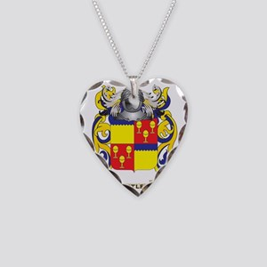 Butler Coat of Arms Necklace Heart Charm