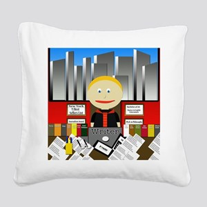 Writer Square Canvas Pillow