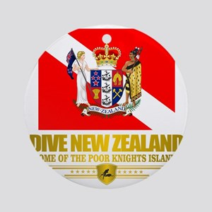 Dive New Zealand Round Ornament