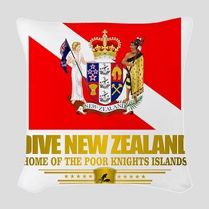 Dive New Zealand Woven Throw Pillow