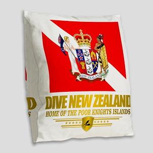 Dive New Zealand Burlap Throw Pillow