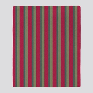Strawberry and Citrus Stripes 1 Throw Blanket