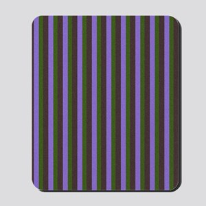Purple and Green Stripes 1 Mousepad