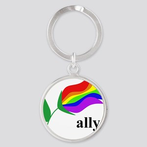 ally flower Round Keychain