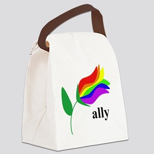 ally flower Canvas Lunch Bag