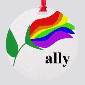 ally flower Round Ornament