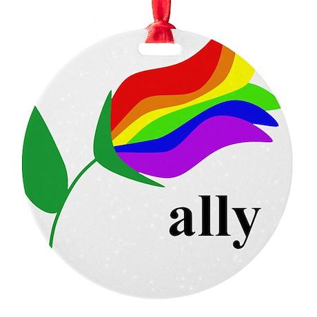 ally flower Round Ornament