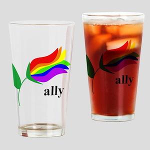 ally flower Drinking Glass