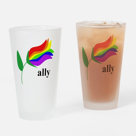 ally flower Drinking Glass