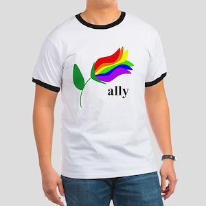 ally flower Ringer T