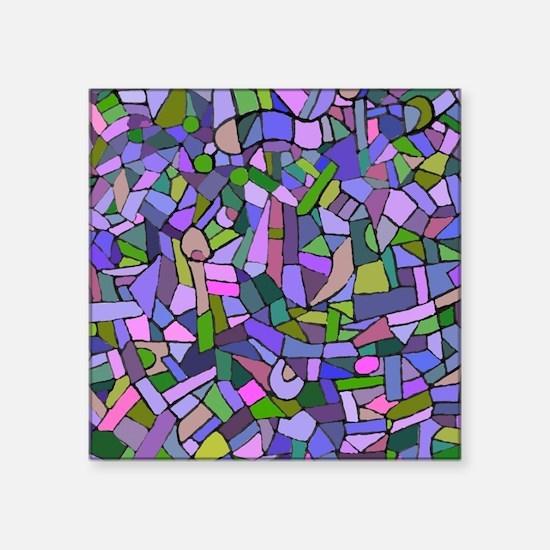 "Purple abstract mosaic Square Sticker 3"" x 3"""