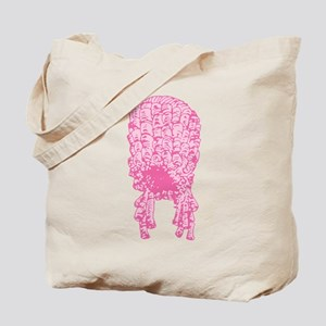 Pink Wig Graphic Tote Bag