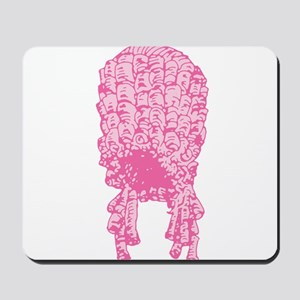 Pink Wig Graphic Mousepad