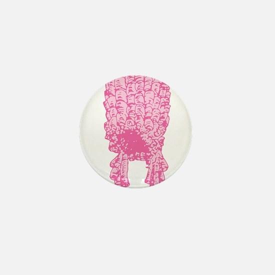 Pink Wig Graphic Mini Button
