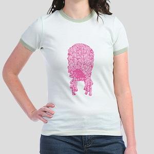 Pink Wig Graphic Jr. Ringer T-Shirt