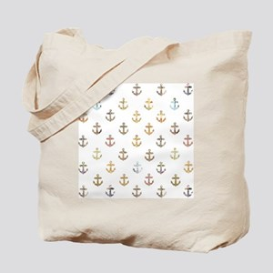 Anchor pattern made from vintage maps Tote Bag