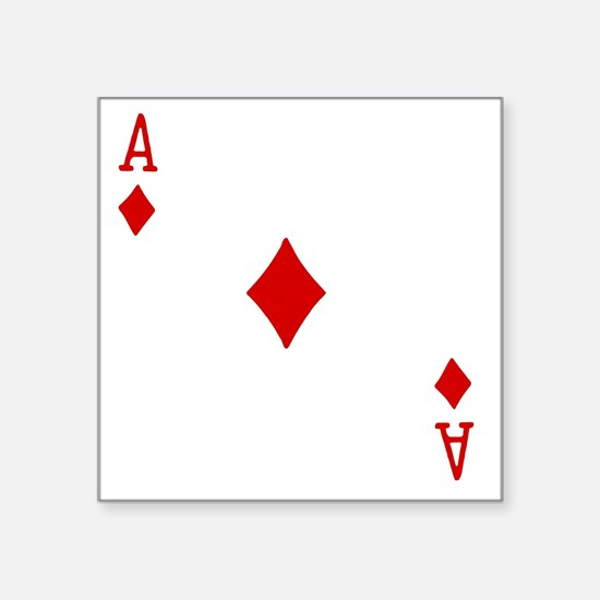 "Ace of Diamonds Square Sticker 3"" x 3"""