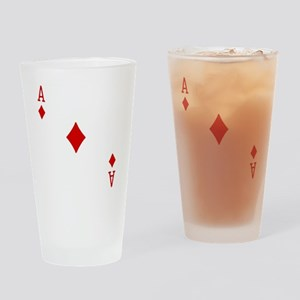 Ace of Diamonds Drinking Glass