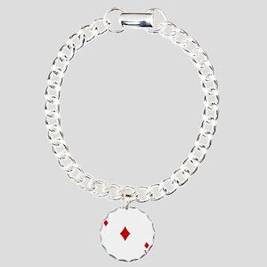 Ace of Diamonds Charm Bracelet, One Charm