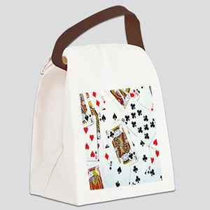 Spread out game cards Canvas Lunch Bag