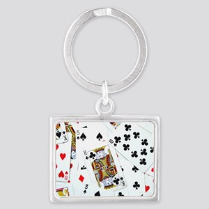 Spread out game cards Landscape Keychain