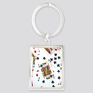 Spread out game cards Portrait Keychain