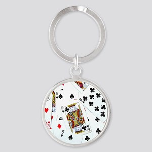 Spread out game cards Round Keychain