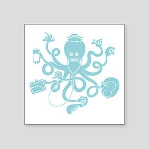 "octopus-nurse-MUG Square Sticker 3"" x 3"""
