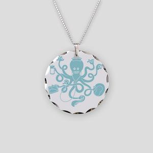 octopus-nurse-MUG Necklace Circle Charm